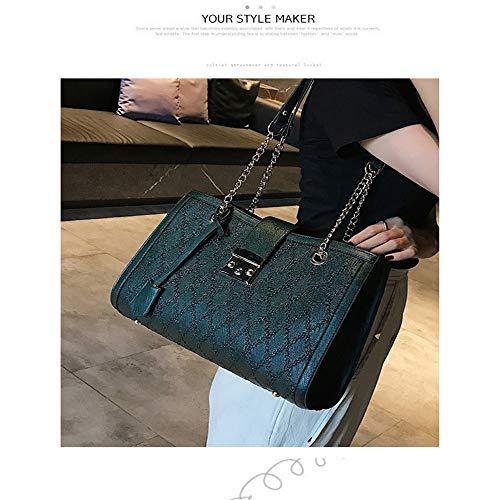 Crossbody Women Valentino regalo Lock catena Lock Hand di Wild Big portatile giorno Fashion madre Bag Kcjmm verde Rombico San ZxYSwZd