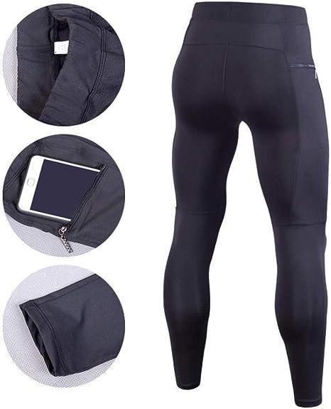 Gergeos Compression Leggings Men/'s Dry Cool Sports Tights Pants Bodybuilding Running Yoga Sweatpants