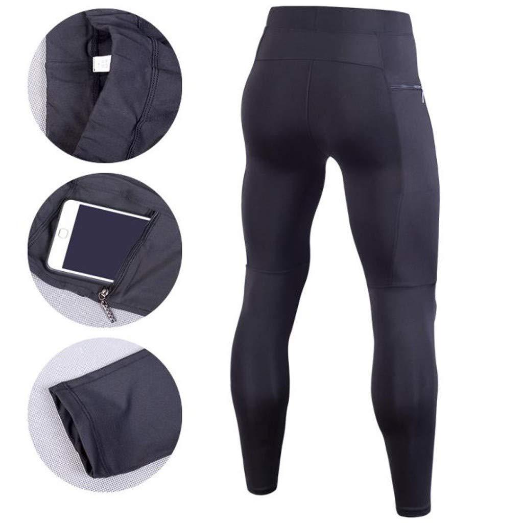 YOcheerful Men Activewear Pants Men Training Bodybuilding Pants Sport Workout Sweatpants Fitness Long Pants Trousers Black best seller