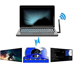 OJA W87B High Speed Long Range Wireless Wifi Adapter with Bluetooth 4.0 Provide Stability Signal Suitable for Home,Travel