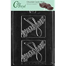 Cybrtrayd G049 Music Plaque (Fits G30 Box) Greeting Cards Chocolate Candy Mold with Copyrighted Molding Instructions