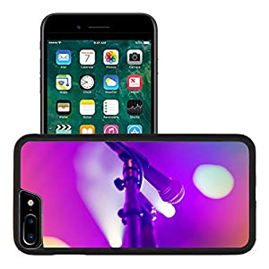 Liili Premium Apple iPhone 7 Plus Aluminum Backplate Bumper Snap Case iPhone7 Plus IMAGE ID 33385347 Microphone on stage with shiny rays as the background