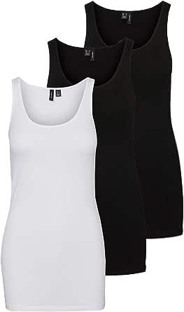 Vero Moda Vmmaxi My Soft Long Tank Top Noos Camiseta sin Mangas para Mujer
