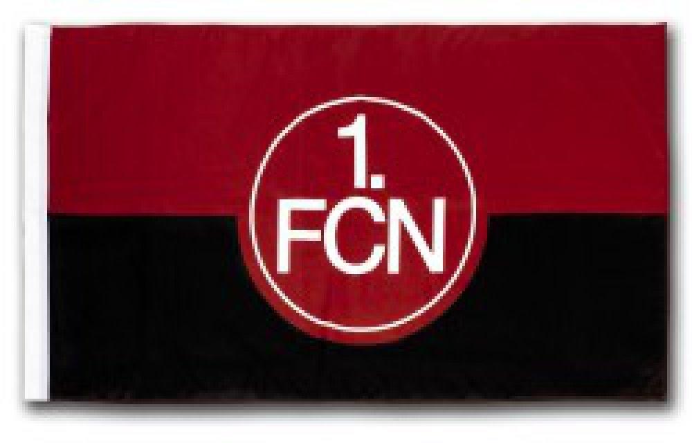 FC N/ürnberg Logo rot-wei/ß Flaggenfritze Hissflagge 1 gratis Aufkleber 100 x 150 cm