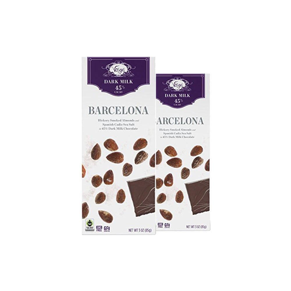 Vosges Haut-Chocolat Barcelona Chocolate, Pack of 2, 3oz Bars