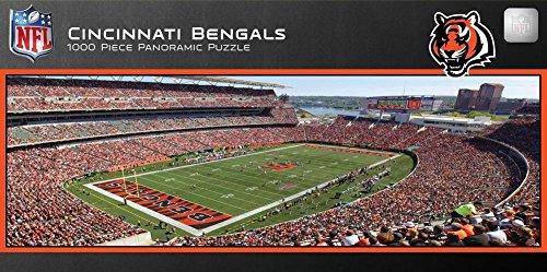Cincinnati Bengals 1000 Piece Panoramic Stadium Jigsaw Puzzle 39 x 13in