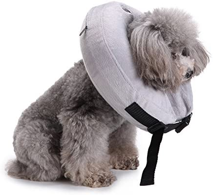 iBaste Hunde Schutzkragen Aufblasbar Hundekragen für Hunde Leckschutz Halsring Nackenschutz Hunde SchutzHundekragen