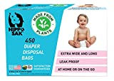 Hippo Sak Plant-Based Diaper Disposal Bags, 450 Count