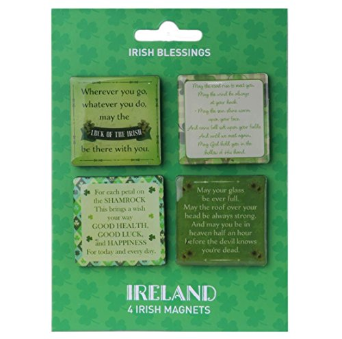 4 Pack Of Magnets With 4 Different Beautiful Irish Blessings Design ()