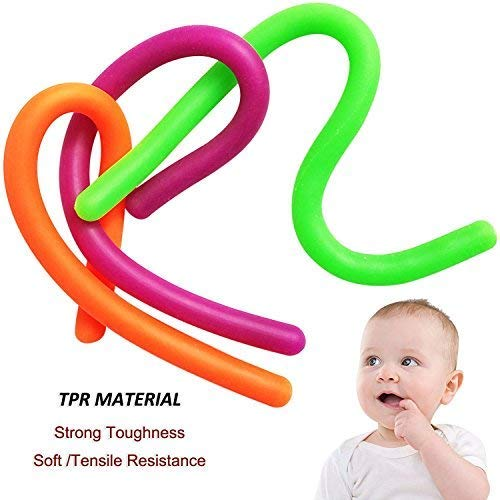 ADHD Reduce Anxiety Stress 12 Pack Miseegan Fidget String Stretchy Sensory Toys Build Resistance Squeeze Pull Good for Kids Adults with ADD BPA//Phthalate//Latex-Free OCD or Autism