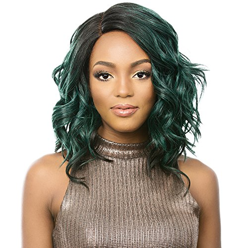 It's A Wig Synthetic Hair Lace Front Wig A Line Lace Trudy (NT MOSS GREEN)