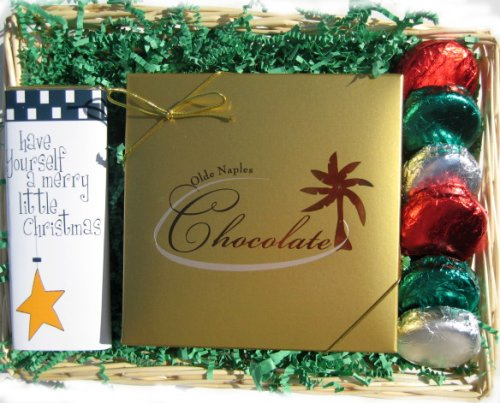 Christmas Holiday Chocolate Gift Basket with Oreo Cookies