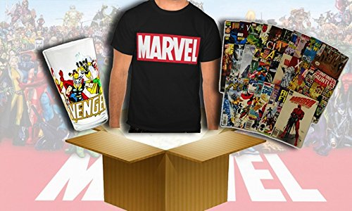 Marveltshirt Marvel Comics Mystery Box -Mens T Shirt + Toys + Random Stuff