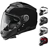 Nolan N44 Adult Street Motorcycle Helmet - Black Graphite / Medium