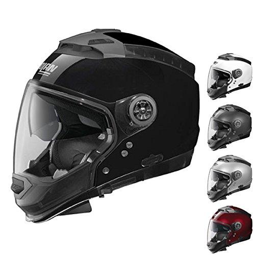 Nolan N44 N-Com Solid Adult Street Motorcycle Helmet - Lava Grey / Medium