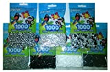 Perler Bead Bag, 7 Pack Group (Black, White, Grey, D. Grey, L. Grey, Striped Newsprint, Striped Black & White Striped