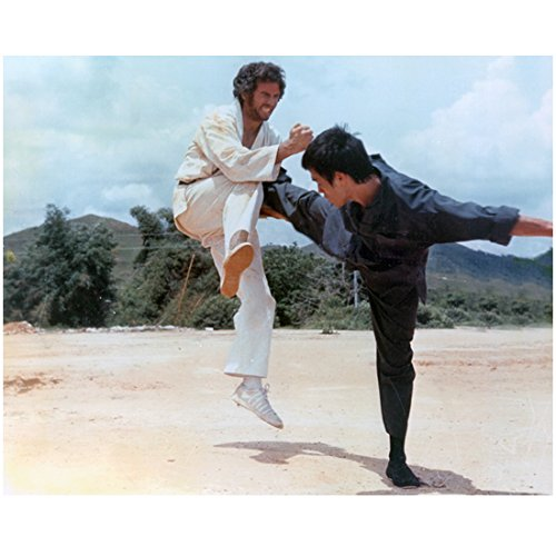 Bruce Lee 8 Inch x 10 Inch Photograph The Way of the Dragon (1972) Kicking Robert Wall kn - Kicking Photo