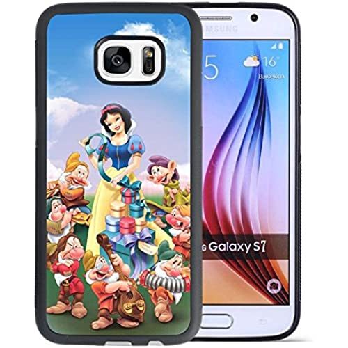 Snow White Samsung Galaxy S7 Case, Onelee [Never fade] Disney Snow White Samsung Galaxy S7 Black TPU and PC Case [Scratch proof] [Drop Protection] Sales