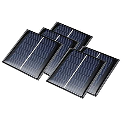 uxcell 5Pcs 3V 100mA Poly Mini Solar Cell Panel Module DIY for Light Toys Charger 70mm x 70mm
