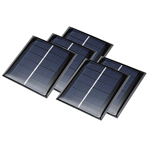 uxcell 5Pcs 4V 100mA Poly Mini Solar Cell Panel Module DIY for Phone Light Toys Charger 70mm x 70mm