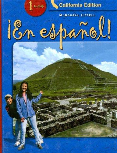 ¡En Español! California, Student Edition, Level 1 (Spanish And English Edition)