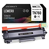 LEMERO (with IC CHIP) Compatible Brother TN760 TN730 High Yield Black Toner Cartridge - for Brother HL-L2350DW HL-L2395DW DCP-L2550DW MFC-L2710DW MFC-L2750DW