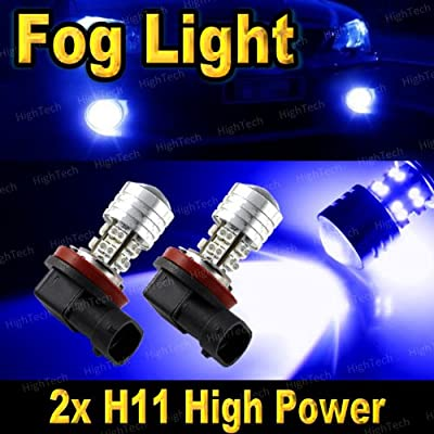 Pair Ultra Blue H11 20-SMD High Power LED Headlight Bulbs For Driving Fog Light / Day Time Running Light DRL