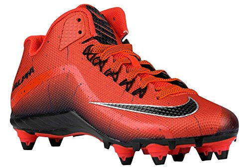 Nike Mens Alpha Pro 2 Football Cleat, Rojo/Negro, 44 D(M) EU/9 D(M) UK