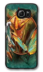 Samsung Galaxy S6 Case and Cover -Rainbow Butterfly Dreamcatcher PC Hard Plastic Case for Samsung S6/Samsung Galaxy S6 Black