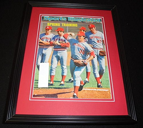 Don Gullett Signed Framed 1975 Sports Illustrated Magazine Cover Reds - Autographed MLB Magazines
