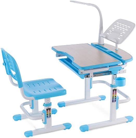 Juego de escritorio y silla para niños, mesa de estudio para niños ...