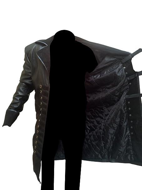 Stylowears Capitán Hook Colin o Donoghue Once Upon a Time Abrigo Negro Negro X-