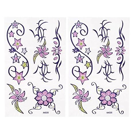 Flor de la estrella de transferencia del modelo de tatuajes ...