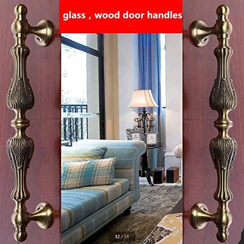 295mm vintage big gate/door handles bronze glass door handles antique brass wood door pulls Europe style door handles fittings