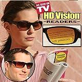 HD Vision Readers- BiFocal Sunglasses, Black 1.5