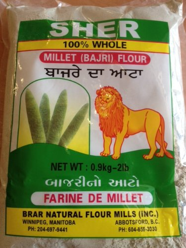 Sher 100% Whole Bajri (Millet) Flour 2lb by Sher