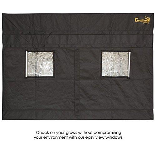 "51x1ydAoYOL - 4'x8' Gorilla Grow Tent SHORTY w/ 9"" Extension Kit"