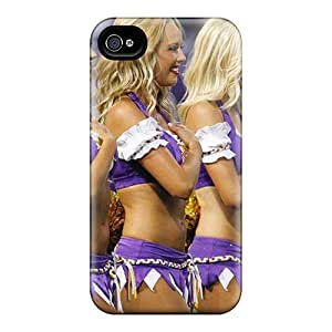 SweetyCase GJaQr14861nNWkW Case Cover Iphone 4/4s Protective Case Minnesota Vikings Cheerleaders Outfit