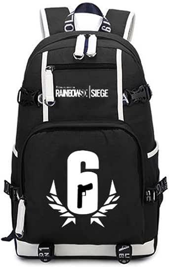 Rainbow Six Siege Backpack Bag Cosplay School Black Oxford Cloth Bag Cosplayrim