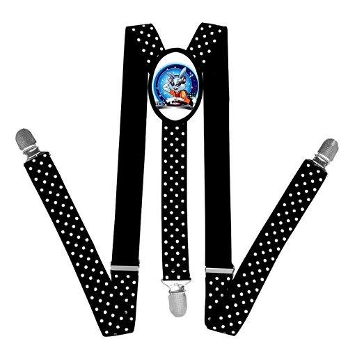 Nice Unique Comfortable Cartoon Rabbit DJ Suspender Unisex Suspender Adjustable Y-Back