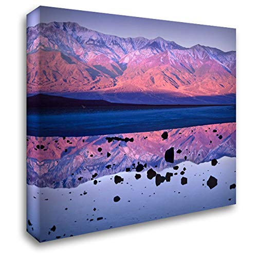 Panamint Range Reflected in Standing Water at Badwater, Death Valley National Park, California 45x35 Extra Large Gallery Wrapped Stretched Canvas Art by Fitzharris, Tim