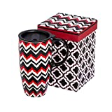 Best Gifted Living coffee mug - Red and Black Chevron Stripe Ceramic Travel Coffee Review