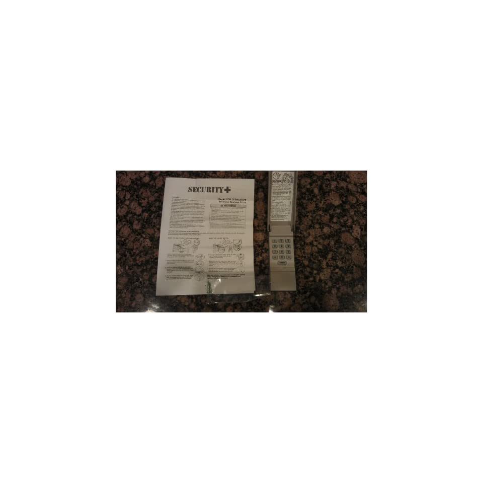976LM LG, 977LM Liftmaster 390mhz, Security + Keyless Entry Remote Keypad