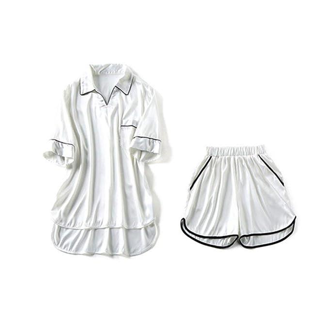 Mujer Pijamas Mujer Verano Satín Conjunto De Pijama Tops + ...