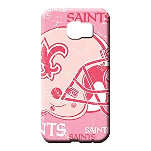 samsung galaxy s6 edge cover Shock Absorbent phone Hard Cases With Fashion Design mobile phone back case new orleans saints nfl football