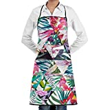 KATONGHUJHJH Commercial Restaurant Kitchen Apron Triangle Flowers Customized Snapapron For Serving Cooking