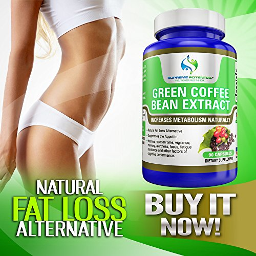 Supreme Potential 100% Pure Green Coffee Bean Extract for Natural Weight Loss and Metabolism Support - 800mg Capsules - 180 Capsules - 90 Day Supply - Manufactured in USA. by Supreme Potential (Image #6)