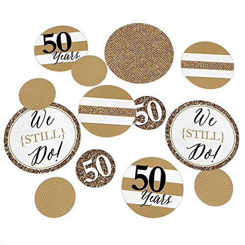 We Still Do - 50th Wedding Anniversary Party Table Confetti Set - 27 Count (Wedding Anniversary Centerpieces)