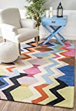 Southwest Wool Rug, 5' x 8', Multi-color