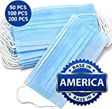 Disposable Face Masks - 3-Ply Breathable & Comfortable Filter Safety Mask - 50 PCS - For Home & Office: more info
